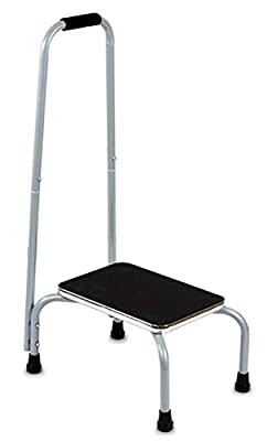 Bundaloo Support Step Stool   Best Foot Stool for Hospital Bed, Kitchen Shelving, Bath Tub   Non-Slip Rubber Handle, Platform, Feet for Extra Safety   for Adults & Kids in Home or Medical Setting