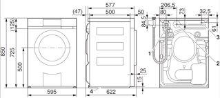 Relativ V-ZUG: Waschmaschine Adora SL, WAASLlc, Design ChromeClass, links SM07