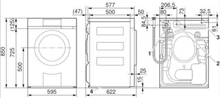 Turbo V-ZUG: Waschmaschine Adora SL, WAASLlc, Design ChromeClass, links JG51