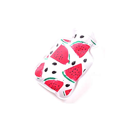 Hacoly Mini Hot Water Bottle Pocket Hot Water Bag Rubber Hottie Water Heating Bag for Pain Relief, Menstrual Cramps, Cold Winter Bed Warming Portable Reusable Therapy Heating Pad-Watermelon by Hacoly