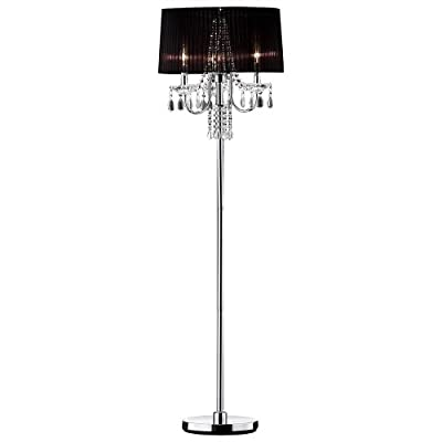 "Ok lighting OK-5111FOK-5111f Crystal Drop Floor Lamp, 59.75"" x 18"" x 18"""