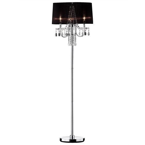 OK LIGHTING OK-5111F Crystal Drop Floor Lamp 59.75