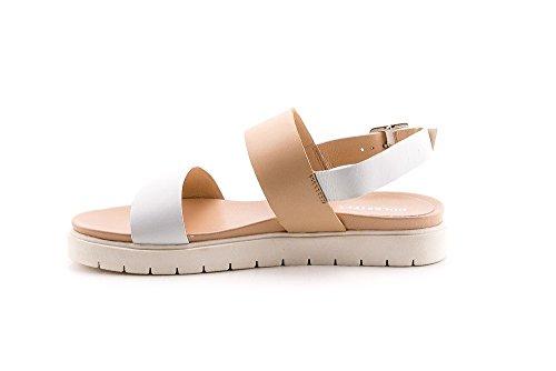 Docksteps DSE102885 Nora sandal 1116 pelle bianco beige