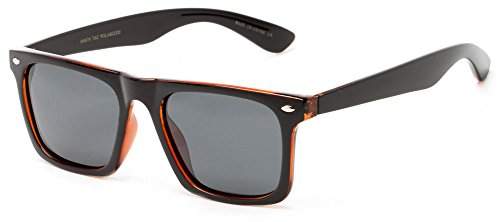 sunglass-warehouse-hawkins-5476-black-brown-frame-with-grey-lenses-unisex-retro-square-sunglasses