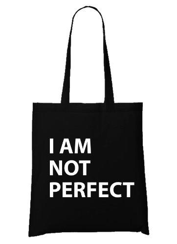 I Am Not Perfect Bag Black