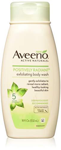 Aveeno Positively Radiant Body Wash Exfoliating 18