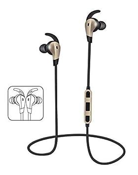 Headset Auriculares Bluetooth intrauditivos Deportivos en el oído inalámbricos Deportivos, teléfono Universal, Auriculares de música,Dorado,Estándar: ...