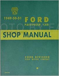 1951 mercury wiring diagram 1949 1951 ford car repair shop manual reprint ford motors lincoln  1949 1951 ford car repair shop manual