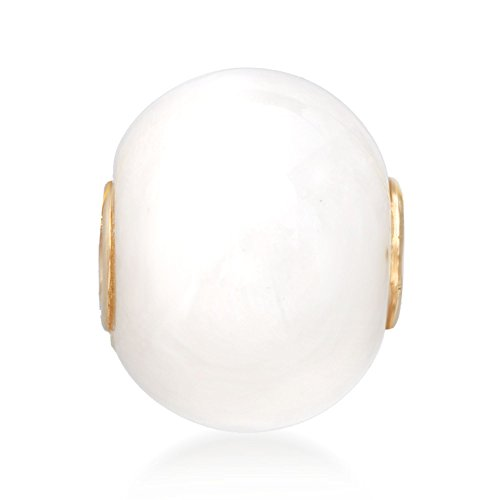 Jade White Gold Necklace - Ross-Simons Kunlun Jade Bead Pendant With 14kt Yellow Gold