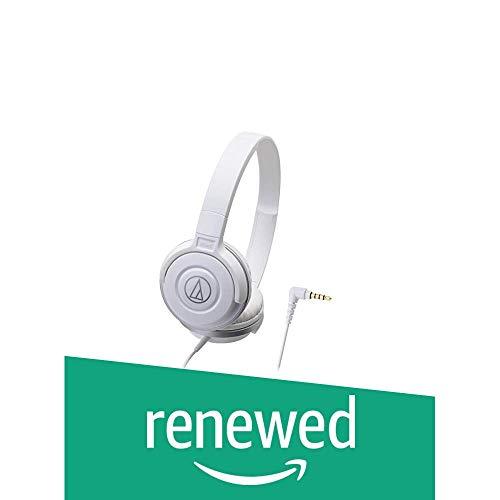 (Renewed) Audio-Technica Street Monitoring ATH-S100-WH Portable Headphones (White)
