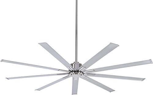 Minka-Aire F887-72-BN, Xtreme 72 Ceiling Fan, Brushed Nickel Finish with Silver Blades