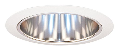 Juno Lighting 27C-WH 6-Inch Tapered Downlight Cone, White Trim with Clear (Alzak Cone Recessed Trim)