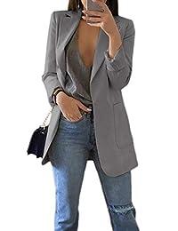 Zilcremo Womens Slim Fit Blazer Work Suit Casual Open Front Office Coat Jacket