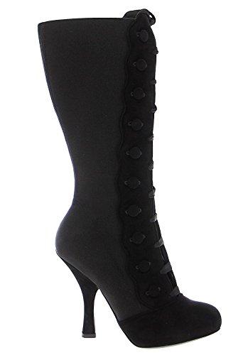 Dolce & Gabbana Womans Black Suede Stilleto Button Lace Up Dressy Boots Size 6 Dolce & Gabbana High Heel Heels
