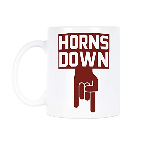 Horns Down Mug beat texas Oklahoma sooners coffee mugs Texas OU gift red river rivalry cup big 12 champions champs cups boomer sooner gifts college football rivalries playoffs 2018 2019 -
