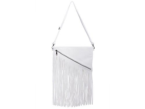 Clutch Tassel Body Women's Handbags Cross Leahward Wedding White Bags FfzYnq7