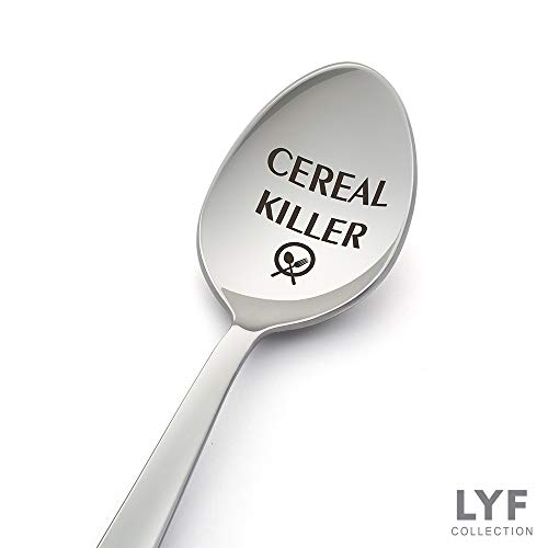 Cereal Killer Spoons - Perfect Cereal Lover Gift-Cereal Spoon Best Teenager Gifts On The Market - Crafted by LYF Collections (Best Gifts For Cereal Lovers)