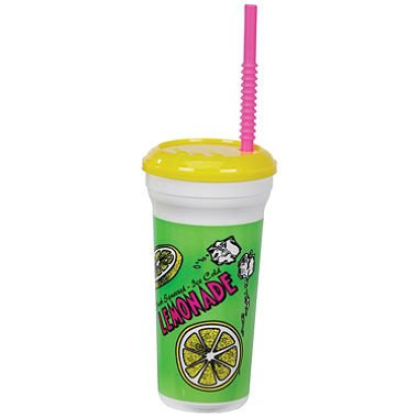 Gold Medal Heavy Duty Lemonade Plastic Cup with Lid & Straw, 32 oz (300 ct.) by MegaDeal by MegaDeal