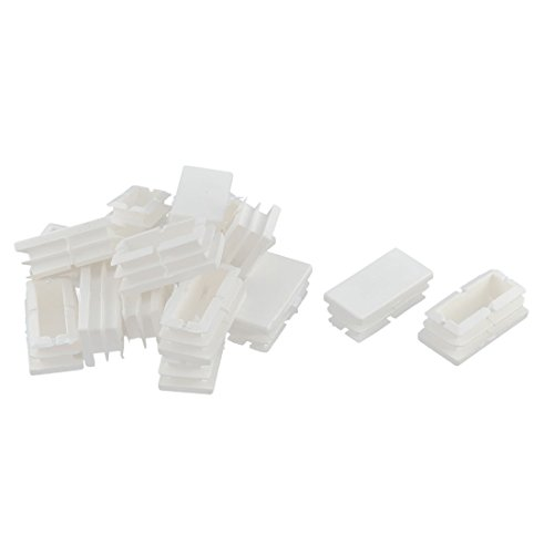 uxcell Plastic Desk Chair Legs Rectangle Tube Inserts End Blanking Caps 16pcs White (Plastic Rectangle Tube Inserts compare prices)