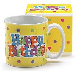 (Yellow Happy Birthday Ceramic Mug)