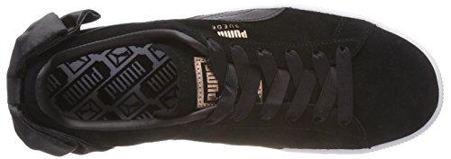 puma Puma Damen Bow Puma Schwarz Suede WN's Sneaker Black Black RqUxw8O