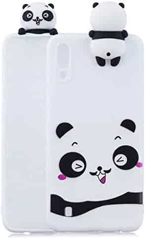 Soft Silicone Case for Samsung Galaxy M10,Aoucase Slim Thin 3D Animals Pattern Gel Rubber Drop Protection Protective Case with Black Dual-use Stylus,Cute Panda