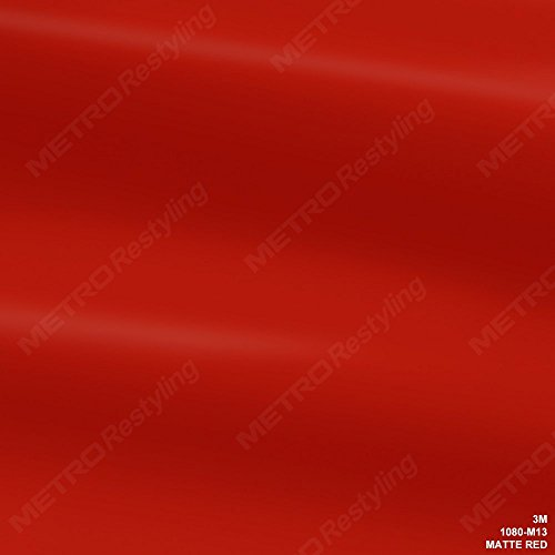 Red Vinyl Wrap - 3M 1080 M13 MATTE RED 5ft x 1ft (5 Sq/ft) Car Wrap Vinyl Film