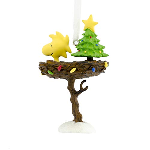 Hallmark Christmas Ornaments, Peanuts Woodstock in Nest Ornament