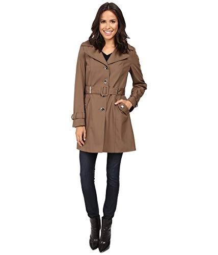 Suit Klein Single Breasted Calvin - Calvin Klein Women's Single Breasted Rain Trench Truffle X-Small