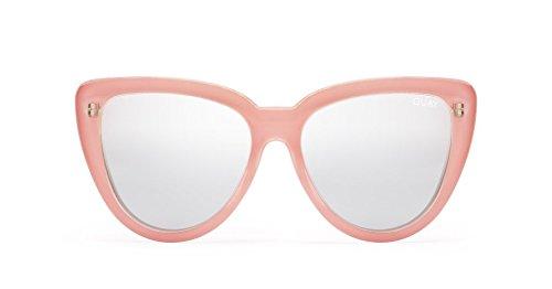 Quay Stray Cat Mirrored Cat Eye Sunglasses (Peach, - Eye Sunglasses Cat Quay