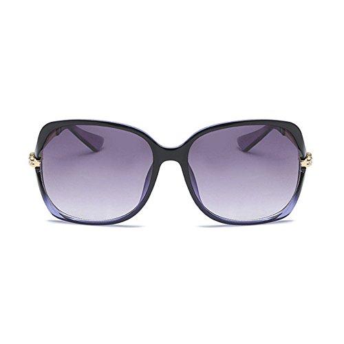 Aoligei Mesdames mode minimaliste lunettes de soleil C