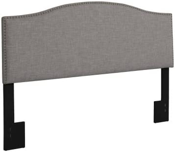 Better Homes and Gardens Grayson Linen Headboard with Nailheads, King, Gray King, Gray