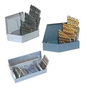"""Precision Twist C115COMBP High Speed Steel Jobber Length Drill Bit Set with Metal Case, Uncoated (Bright) Finish, 118 Degree Conventional Point, 115 piece, Combination, 1/16"""" to 1/2"""" x 64ths, #60 to #1, A to Z"""