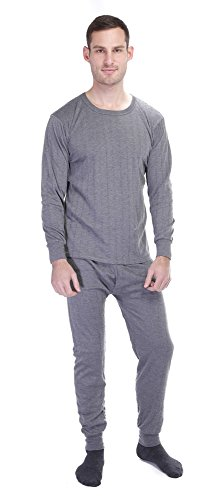 Gilbins Men's Lightweight Ultra Soft Microfiber Fleece Lined Thermal Underwear Long John Set (Micro Fleece Thermal)