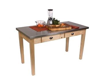 John Boos Cucina Milano Kitchen Table 24 X 48 Mil4824d Amazon