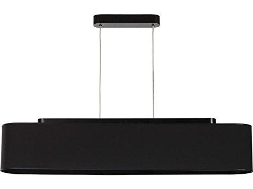 Hängeleuchte modern/im Retro Stil/schwarz/Stoffschirm / 110cm / 4x E27 max 60W 230V / Pendellampe innen Vintage/Beleuchtung Wohnzimmer Schlafzimmer