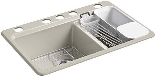 Kohler K-8669-5UA3-G9 Riverby Kitchen Sink Sandbar ()