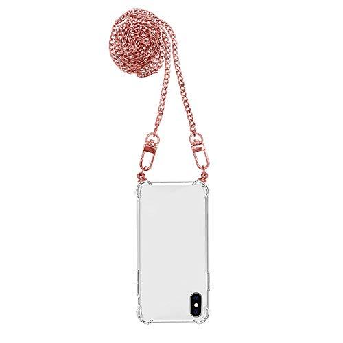 itmops-Samsung-Galaxy-Carcasa-a-prueba-de-golpes-Airbag-Transparente-Crystal-Clear-Carcasa-protectora-con-cadena-cadena-cadena-para-telefono-movil-Samsung-Galaxy-A3-2017-rosa