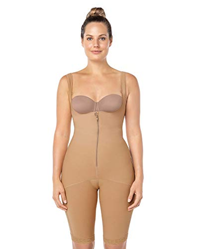 f55b7a892d0 Leonisa Women s Braless Body Shapewear with High Compression Thighs Control  Slimmer