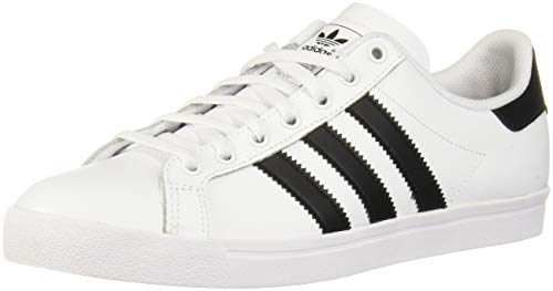 adidas Originals Unisex Coast Star Sneaker, Black, White, 7 Medium US Big -