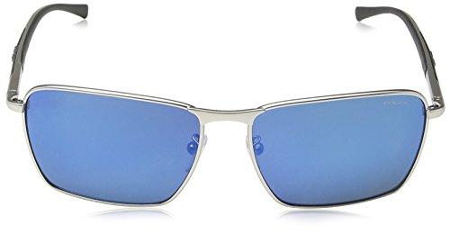 S8966 Palladium Frame 1 Rectangulaire Matt Police Big Lunette Lens Mirror soleil Blue Match Homme de vZwwtHqT