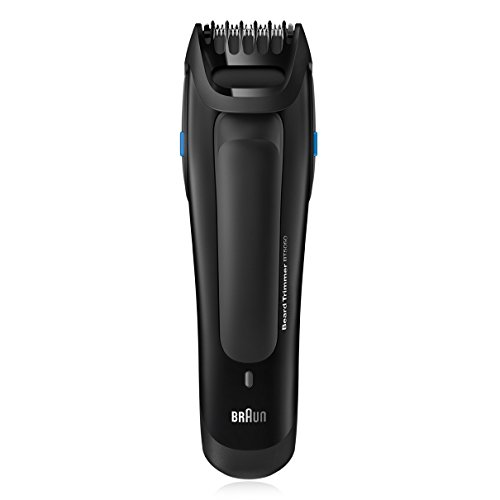 Braun WASHABLE Beard Trimmer with All NEW Click&Lock Technology, BONUS FREE Body Spray and Travel Pouch Included
