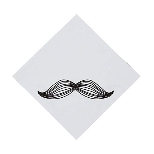 (Fun Express - Mustache Party Lunch Napkins - Party Supplies - Print Tableware - Print Napkins - 16 Pieces)