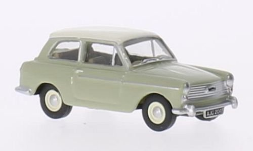 Austin A40 MKII, light green/white, RHD, Model Car, Ready-made, Oxford 1:76