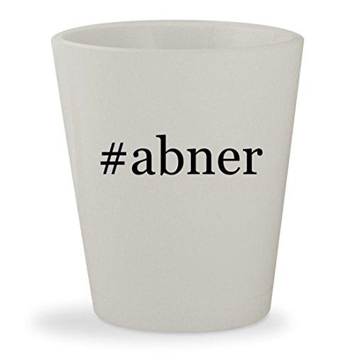 Lil Abner Costumes (#abner - White Hashtag Ceramic 1.5oz Shot Glass)