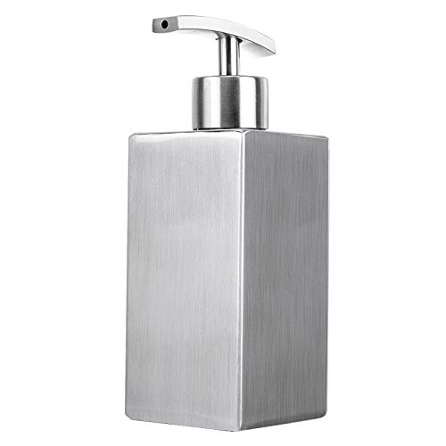 Dish Soap Dispenser Hand Lotion Bottle, Liquid Soap Dispenser for Kitchen and Bedroom, Countertop Stainless Steel Rust…