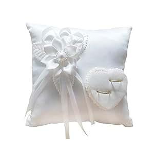 Amazon.com: Anillo de boda almohada romántico elegante ...