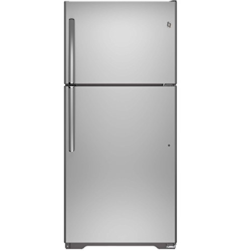 GE 18.2 Cu. Ft. Top-Freezer Refrigerator Stainless steel GIE18ISHSS