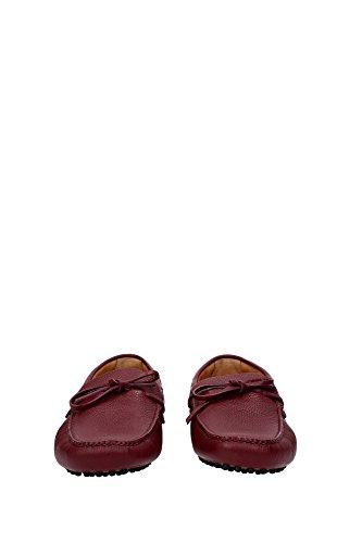 Mocasines EU Rojo KUD006CERISEDAINO3 Car Shoe Hombre 4OPnAq