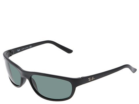 Ray-Ban Men's RB4114 Rectangular Sunglasses, Matte Black/Green, 62 mm (Billig Ray Ban Sonnenbrillen Online)